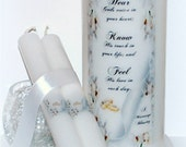 Wedding Unity Candles, wedding candle, marriage candle, unity candle sets, 3 x 9, wedding couple gifts, underneath the wax, ceremony candles