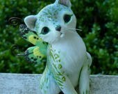 Catterfly Green stripped Fantasy Myxie Pal sculpture