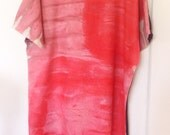 Dress : Summer Haze Kimono Sleeve Hand Painted Dress Size 12