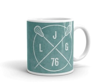 Personalized Lacrosse Monogram Mug- Personalized Gifts for Men- Lacrosse Mug- Coffee Mug- Lacrosse Gift