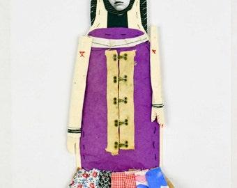 MIxed Media Paper Art Doll