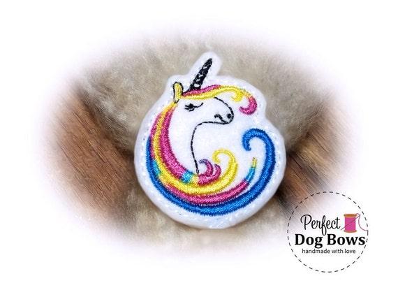 Unicorn DOG BOW, Colorful Unicorn, Unicorn Party, Unicorn Birthday, Unicorn Puppy Bow