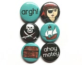 Pirate Magnet or Pin Set ...