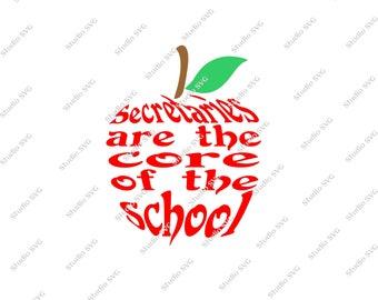 Digital Cut File - Secretary - Appreciation, School - Vinyl Cutting File - SVG, DXF, EPS, Silhouette, Make the Cut, Sure Cuts a Lot, Cricut