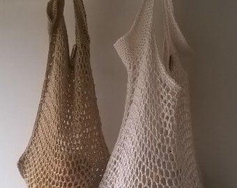 Crochet Pattern for Square String Bag PDF Instant Download
