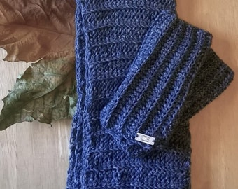Crochet Pattern for Scarf and Fingerless Gloves Set - Charity Listing