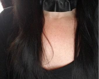 Handmade Gothic Victorian Black Genuine Leather Choker Collar