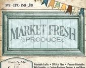 Market Fresh Produce SVG - farmhouse style svg - produce cut file - kitchen svg - produce svg - Commercial Use svg -  svg, dfx, png, jpg