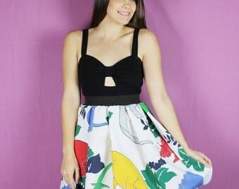 DINSOSAUR SKIRT, Vintage Skirt, dinosaur skirt, HANDMADE Skirt, womens skirt, small dinosaur skirt, vintage dinosaur skirt