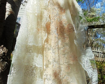 Ecru tulle dress lace  wedding cream  vintage cupcake boho  bride outdoor  romantic small by vintage opulence on Etsy