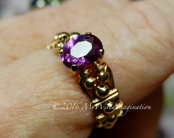 Alexandrite Color Change, Hand Crafted Wire Wrapped Ring, Alexandrite Wire Wrapped Ring, Fine Jewelry, June Birthstone Made To Order Ring