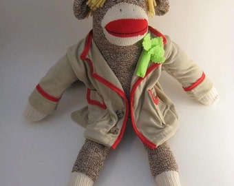 Custom fancy sock monkey