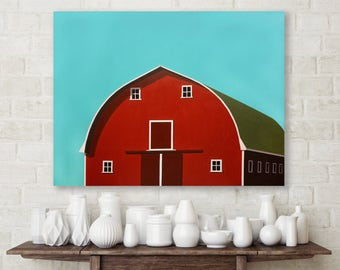 large original painting, large painting on canvas, modern painting, barn painting, minimalist original painting, large painting on canvas