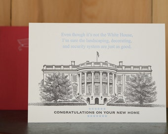 White House - letterpress new home card