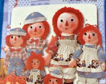 Raggedy Ann and Andy Sewing Pattern Simplicity 9447   Raggedy Ann and Andy Dolls