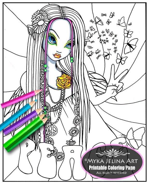 myka jelina coloring pages chloe peace digital download coloring page myka jelina art