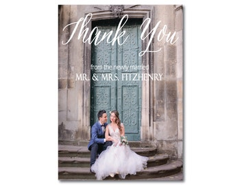 Photo Wedding Thank You Card, Custom Thank You Card, Printable Photo Card, Wedding Thank You Card, Wedding Photo Card, Photo Template