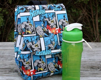 Insulated Lunch Bag Lunch Tote Batman The Dark Knight Ready to Ship