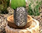 Harmony Mandala Ring Fully Adjustable Silver Boho Festival Urban Hippie