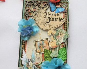 Fairy Tag Card - Handmade card - Dimensional card