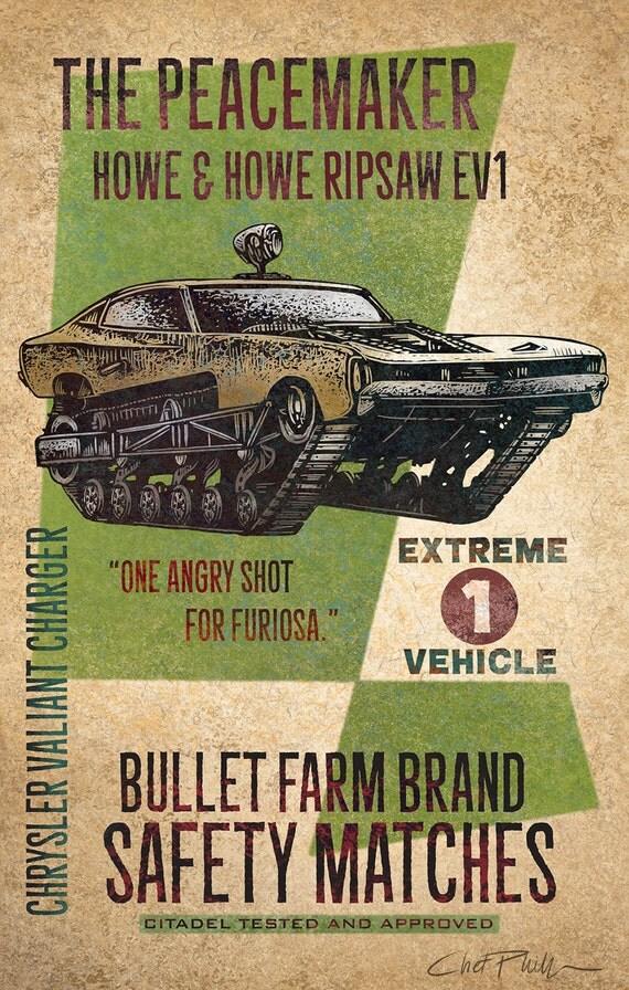 """Bullet Farm Brand Matchbox Art- 5"""" x 7"""" matted signed print"""