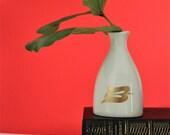 VINTAGE white porcelain peanut jug from Royal Viking Lines / Vintage Vase / Vase / Bird Vase / Housewarming Gift / Vintage Housewarming Gift