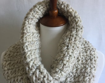 Twist cowl ~ infinity scarf ~ chunky scarf ~ neck warmer ~ style #1026 shown in Beach Sand ~ choose your own color