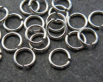 10 pcs Sterling Silver Open Jump Ring 3.5mm ~ 24ga (CG8719)