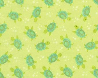 Sea Turtles Green Timeless Treasures Fabric 1 yard
