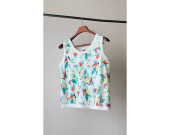 1980s Tropical Birds Novelty Tank Top