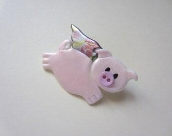 When Pigs Fly Pin brooch swine