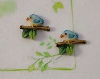 Bird on a Branch set of 2