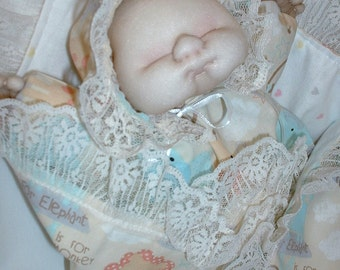Soft Sculpture Baby Doll Hand Puppet