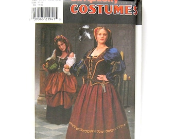 Renaissance Medieval Dress LOTR Costume / Simplicity 8249  / Renaissance Fair / Cosplay / Sewing Pattern Size GG 26W-32W Plus Size / UNCUT