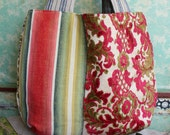Gorgeous market bag with antique fabric