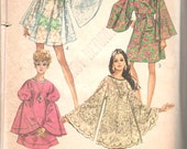 Simplicity 8129 1960s Misses Angel Sleeve Cover Up Dress Pattern Tablecloth Jiffy Beach Womens Vintage Sewing Pattern Size Medium Bust 34 36