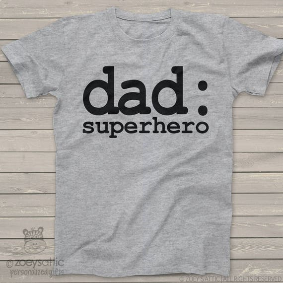 Dad or grandpa shirt - superhero  rockstar, custom wording t-shirt for dad or grandpa - funny Father's Day holiday or birthday gift MDF1-071