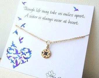 Friendship bracelet, sisters, compass charm bracelet, graduation gift, sorority, wanderlust, travel, journey, follow your star, Best Friends