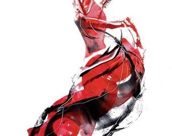 Flamenca expressive flamenco dancer art graphic print poster