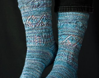 Logan Pass Socks Knitting Pattern - PDF