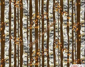 "Quilting Treasures / James Meger ""Nature's Glory"" #23837-A Birch Trees Fabric Priced Per 1/2 Yd."