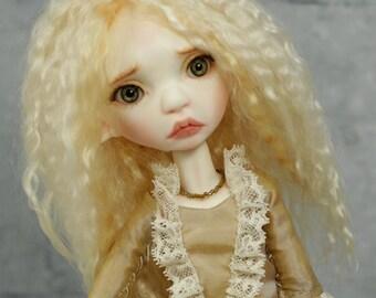 Tiny BJD girl Runa OOAK in design, full set #2 Tiny Toffee, Artist doll BJD by miradolls