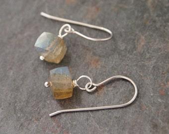 Labradorite Cube Earrings