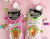 KIT Hoppy Easter Candy Bar Wraps / Easter Basket / Easter Candy / Easter Carrots / Easter Treats / Kids / Teachers / Co-Workers /Pink