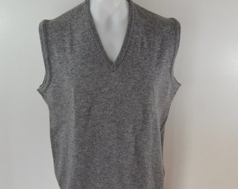on sale Vintage L.L. BEAN Lambswool Sweater Vest made in England size xl