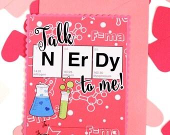 Valentines Day Card//Science//Chemistry//NErDy//Be My Valentine//Donut//Luv U//CuTe//Love Card//Science Teacher gift//Valentine