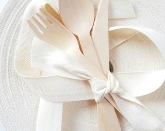 "1"" wide natural cotton ribbon - by the yard"