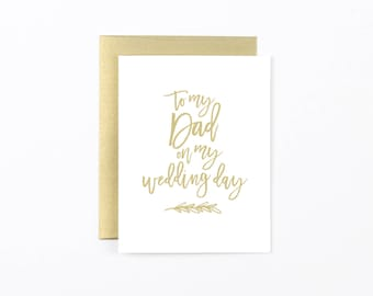 wedding day dad card, father of the bride card, dad thank you card, wedding stationery, dad thank you, wedding day card, wedding party card