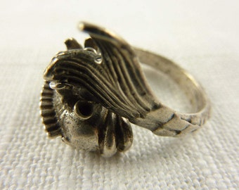 Vintage Sterling Silver Wrap Ring Size 6.75