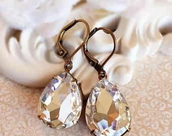 Crystal Earrings - April Birthstone Gift - Bridesmaid Jewelry - CAMBRIDGE Crystal